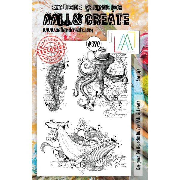 AALL & Create Clearstamps A5 No. 390 Sea Life