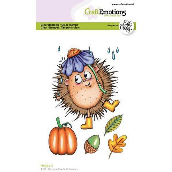 Craft Emotions Clearstamps Hedgy III