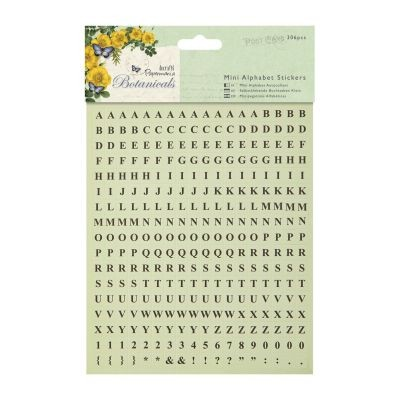 Papermania Botanicals Mini Alphabet Stickers