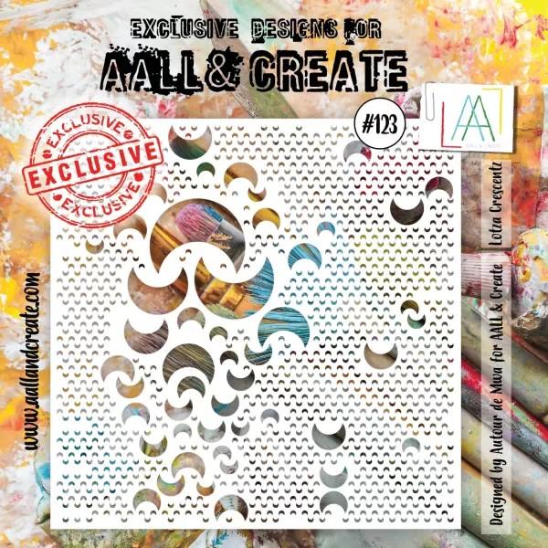 AALL & Create Stencil 6x6 No. 123 Lotza Crescents