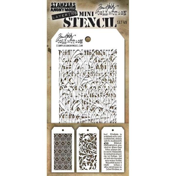 Tim Holtz Mini Stencil Set 049