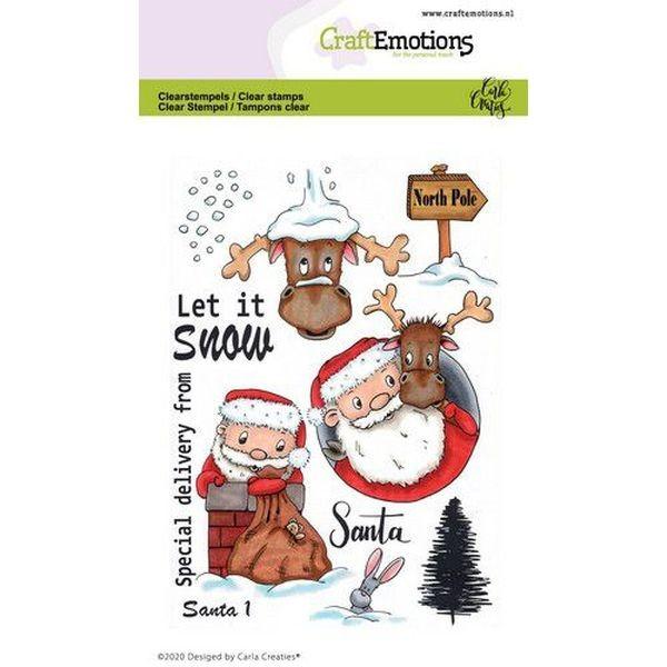 Craft Emotions Clearstamps Santa I