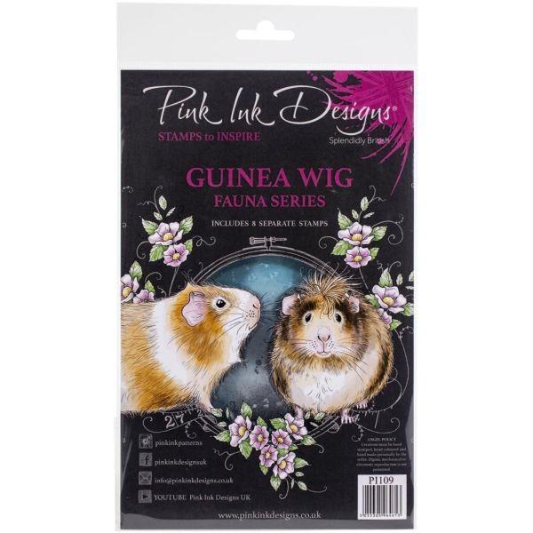 Pink Ink Designs Clearstamp Set Guinea Wig