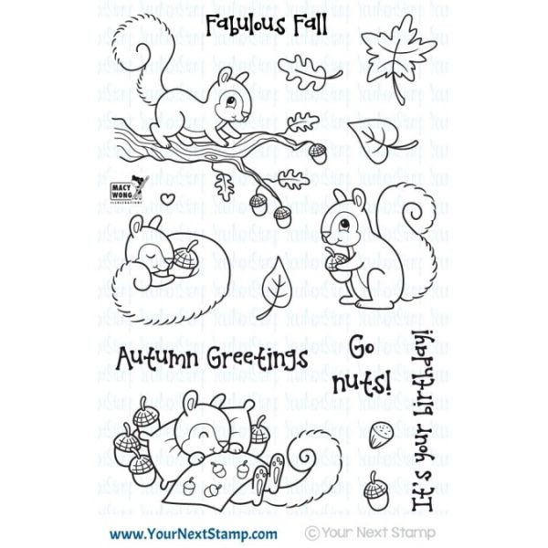 Your next Stamp Sandy Squirrel Autumn Greetings