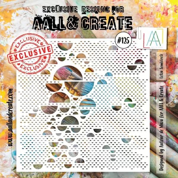 AALL & Create Stencil 6x6 No. 125 Lotza Semicirclz