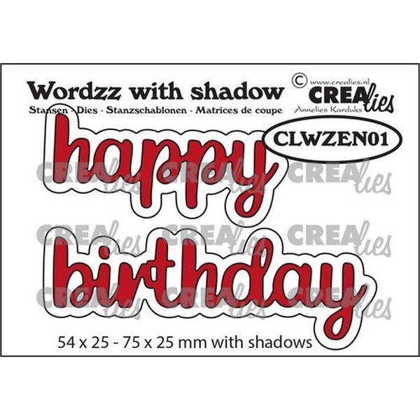 CreaLies Wordzz with Shadow No.01 Happy Birthday
