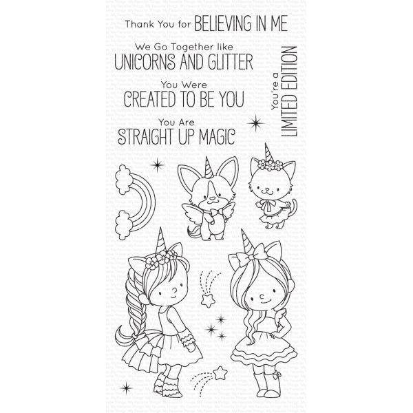 MFT Clearstamps Unicorns & Glitter