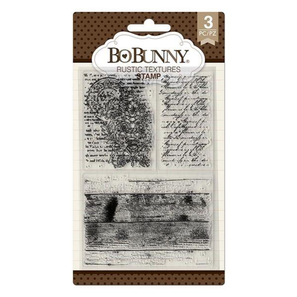 BoBunny Press Essentials Stamps Rustic Textures
