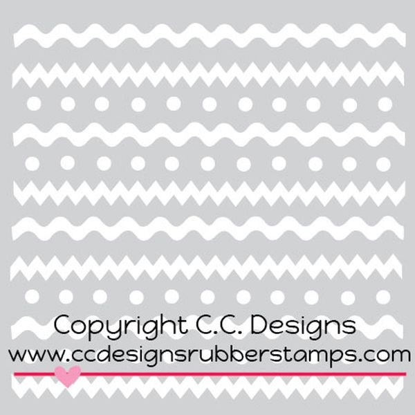 C.C. Designs Stencil Spring Stripes