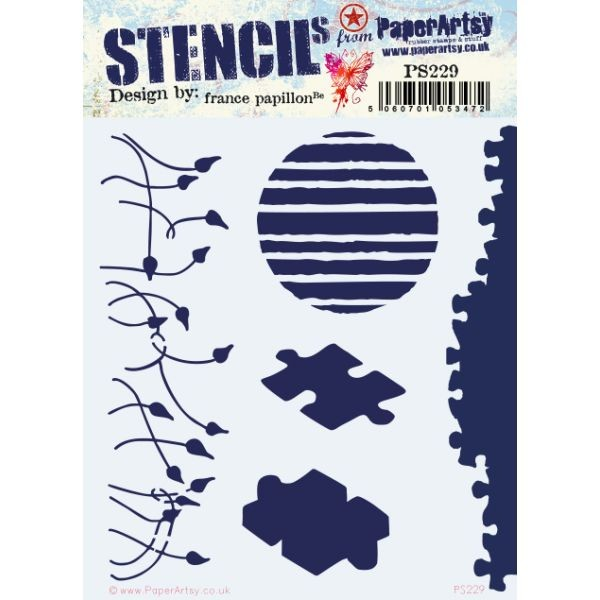 Paper Artsy Stencil 229 by France Papillon