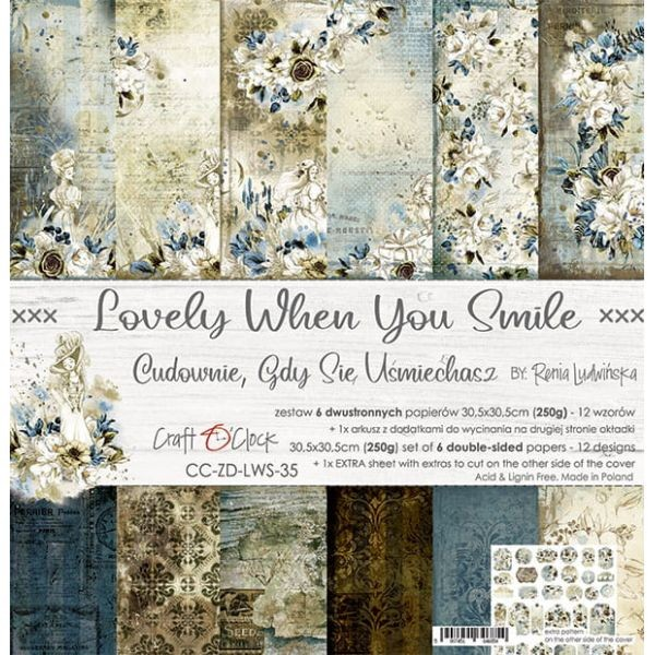Craft o´Clock Lovely when You Smile A Set of Papers 12x12