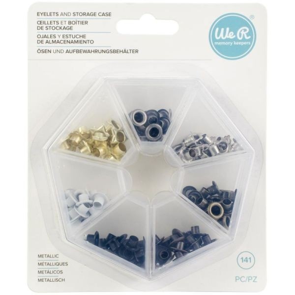 WeR Memory Keepers Eyelets & Storage Case Metallic