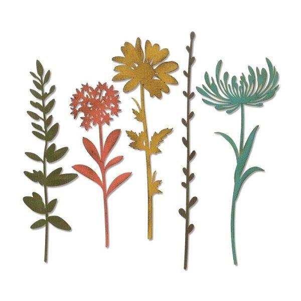 Tim Holtz Alterations Thinlits Wildflower Stems No. 1