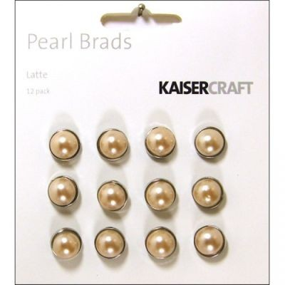 Kaisercraft Pearl Brads Latte