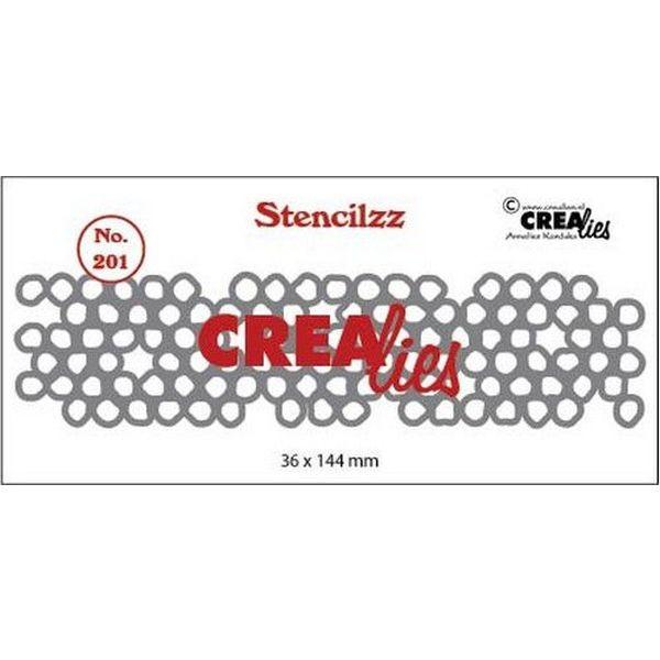 CreaLies Stencilzz No. 201 Wonky Circles