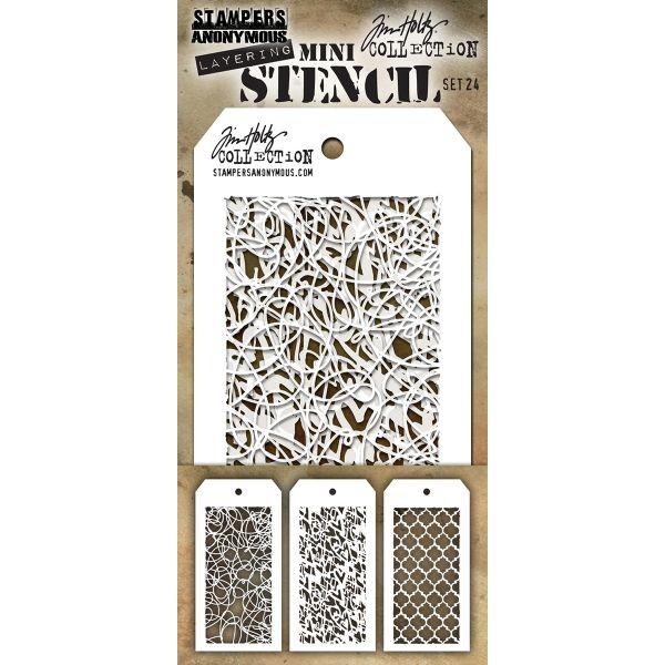 Tim Holtz Mini Stencil Set 024