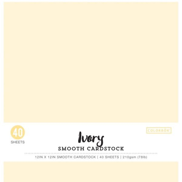 Colorbök Smooth Cardstock 12x12 Ivory