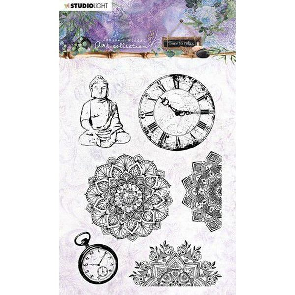 Studio Light Jenine´s Mindful Art Time to Relax Clearstamps A6 No. 17