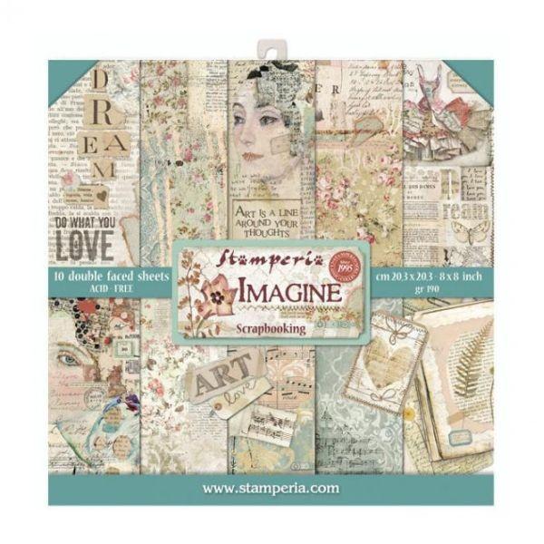 Stamperia Paper Pack Imagine 8x8
