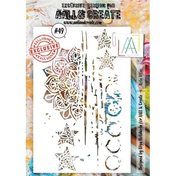 AALL & Create Stencil A5 No. 49 Rota Vitae