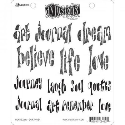 Dylusions Clingstamps Word Love
