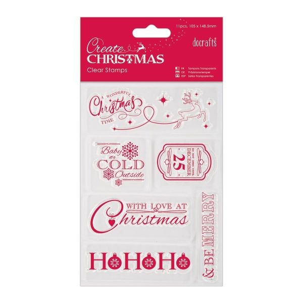 Create Christmas Clearstamps 4x6 Christmas Sentiments