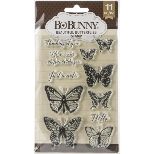 BoBunny Press Essentials Stamps Beautiful Butterfly