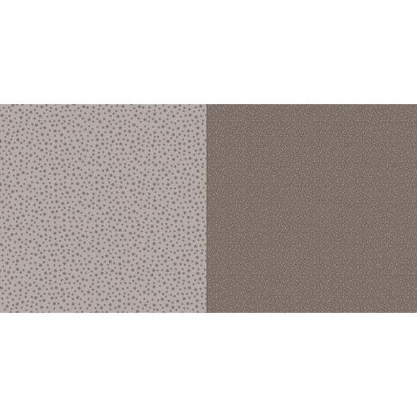 Dini Design Scrapbook-Papier Punkte & Blumen Mokkabraun