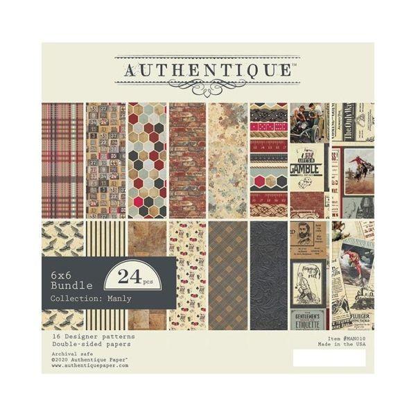 Authentiique Manly Paper Pad 6x6