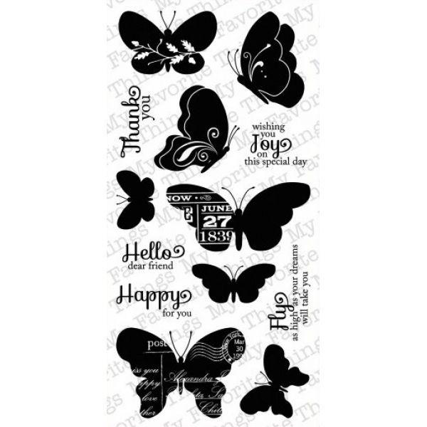 MFT Clearstamps Blissful Butterflies