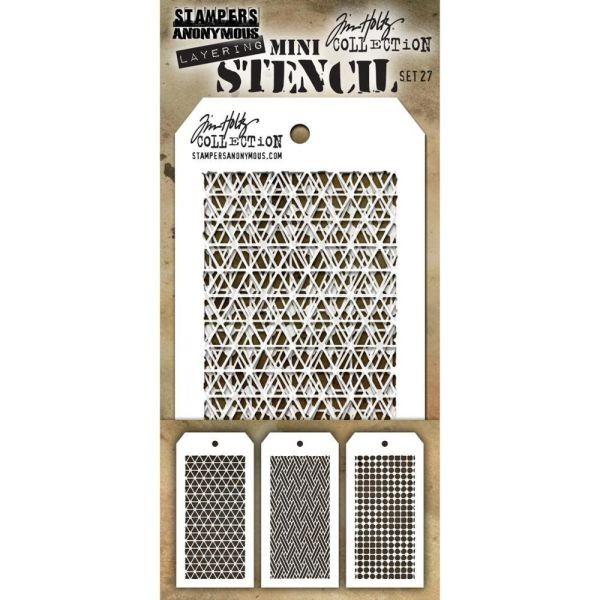 Tim Holtz Mini Stencil Set 027