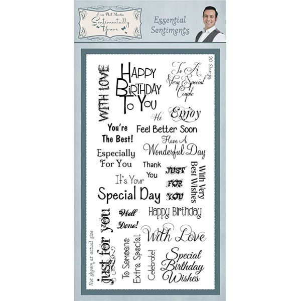 Sentimentally Yours Clearstamps Essential Sentiments