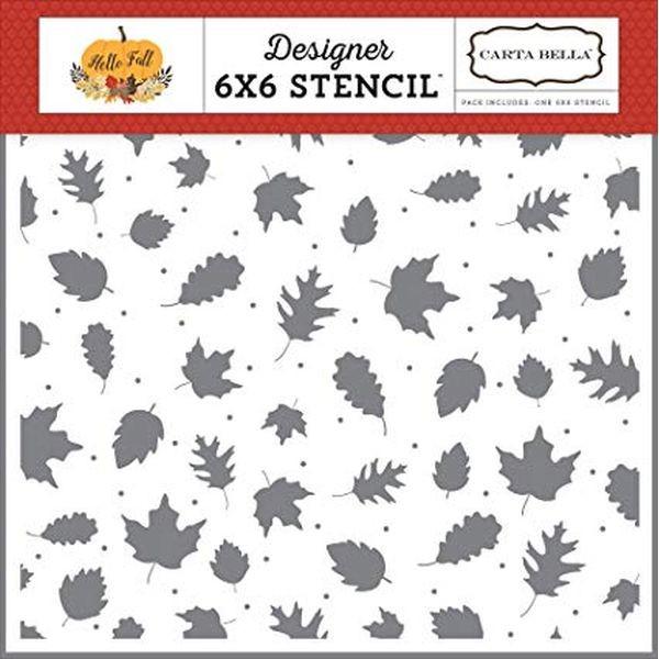 Carta Bella Stencil 6x6 Fall Leaves