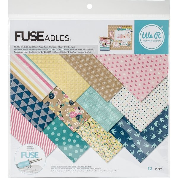 WeR Memory Keepers FUSEables Plastic Paper Pack 12x12