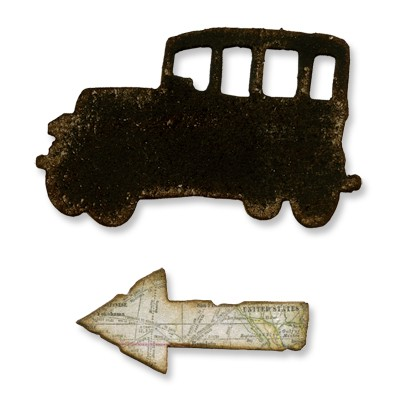 Tim Holtz Alterations Movers & Shapers Mini Old Jalopy & Arrow