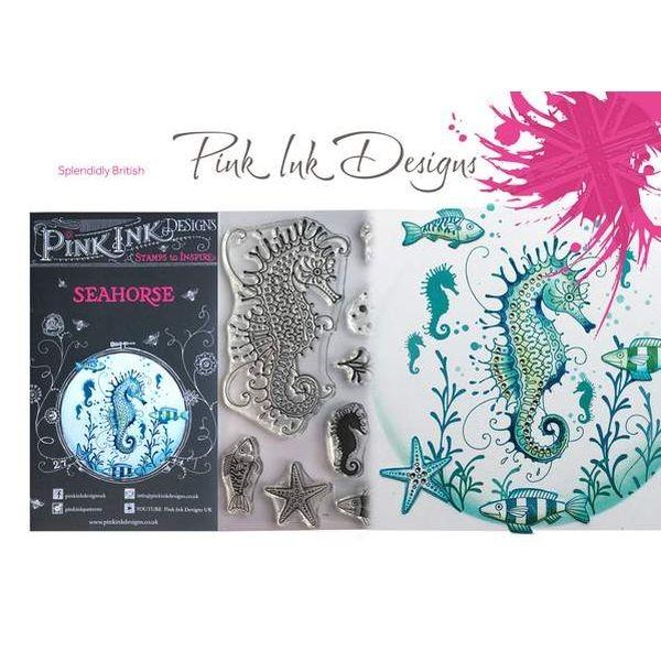Pink Ink Designs Clearstamp Set Seahorse