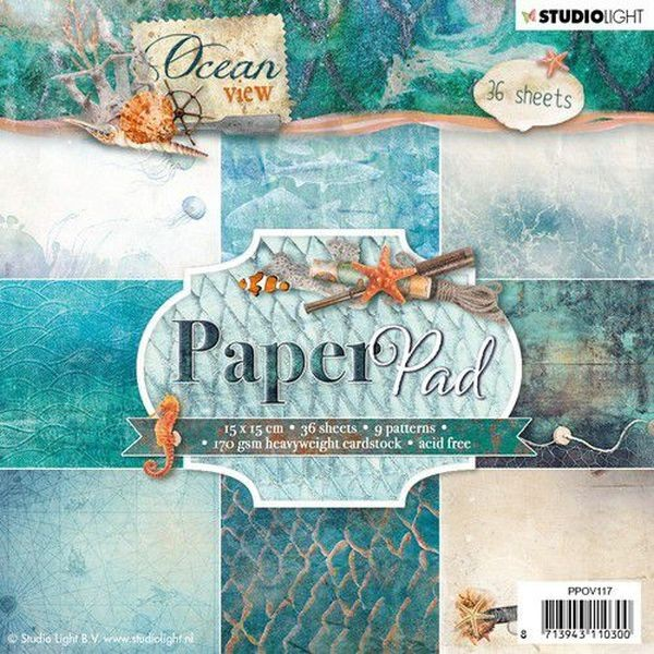 Studio Light Ocean View Paper Pad 6x6 No. 117