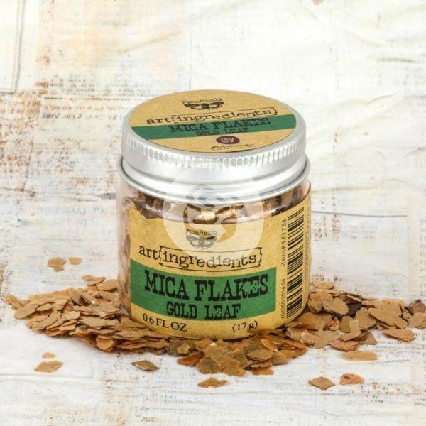 Prima Marketing Art Ingredients Mica Flakes Gold Leaf