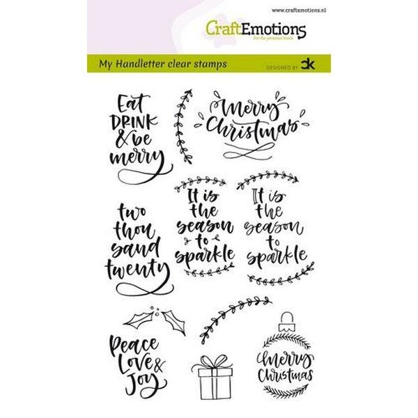 Craft Emotions Clearstamps Handlettering Christmas II