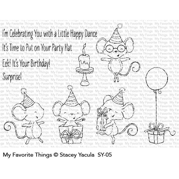 MFT Clearstamps It´s a Mice Time to Celebrate