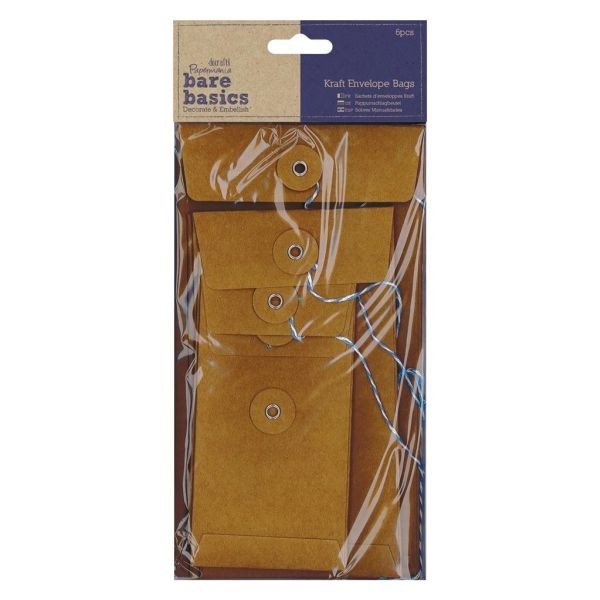 Papermania Bare Basics Kraft Envelope Bags Rectangular