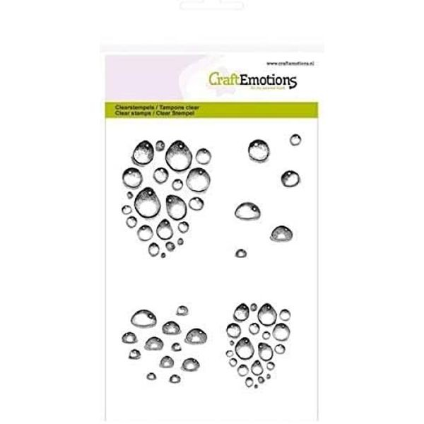 Craft Emotions Clearstamps Water Drops