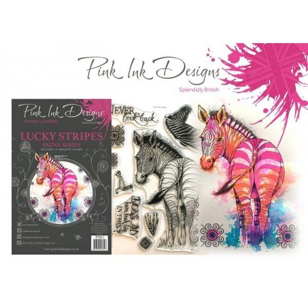 Pink Ink Designs Clearstamp Set Stripes