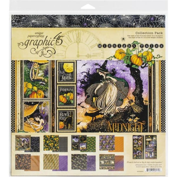 Graphic 45 Midnight Tales Collection Pack 12x12