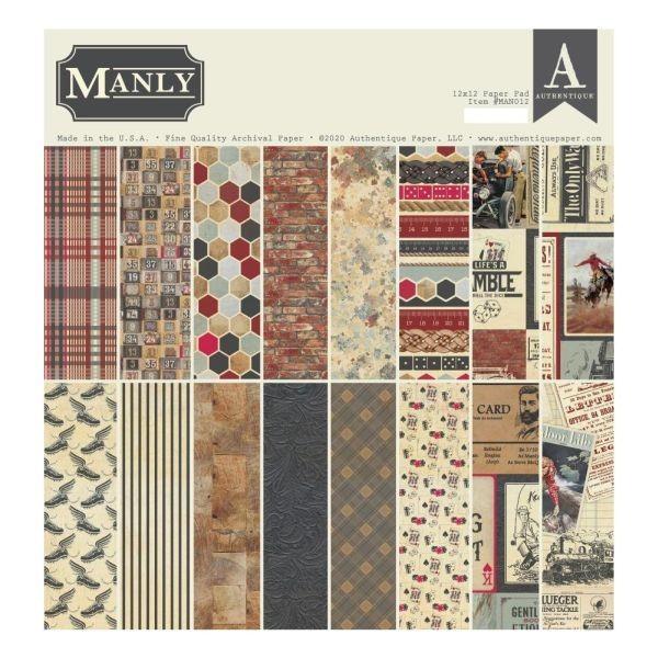 Authentiique Manly Paper Pad 12x12
