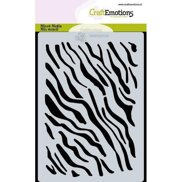 Craft Emotions Stencil A6 Tiger-Zebra