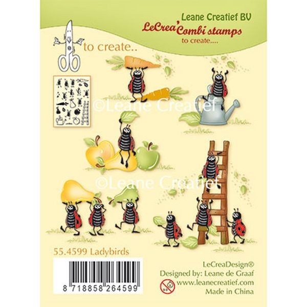 LeaCreadesign Combi-Clearstamps Ladybugs