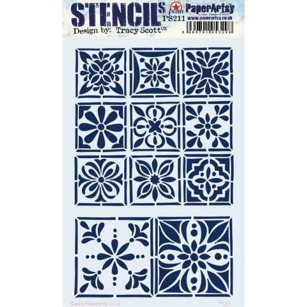 Paper Artsy Stencil Large 211 by Tracy Scott