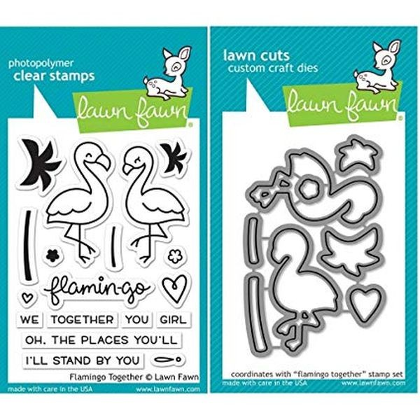 Lawn Fawn Bundle Clearstamps & Dies Flamingo Together