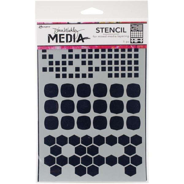 Dina Wakley Media Stencil Shape Mashup